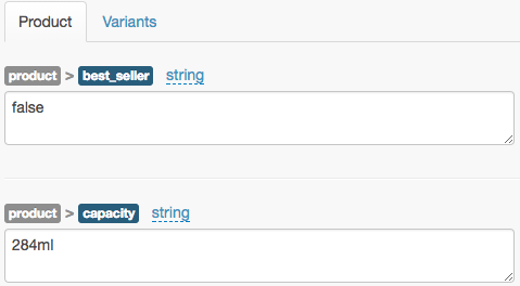 What fields does SearchSpring pull from Shopify