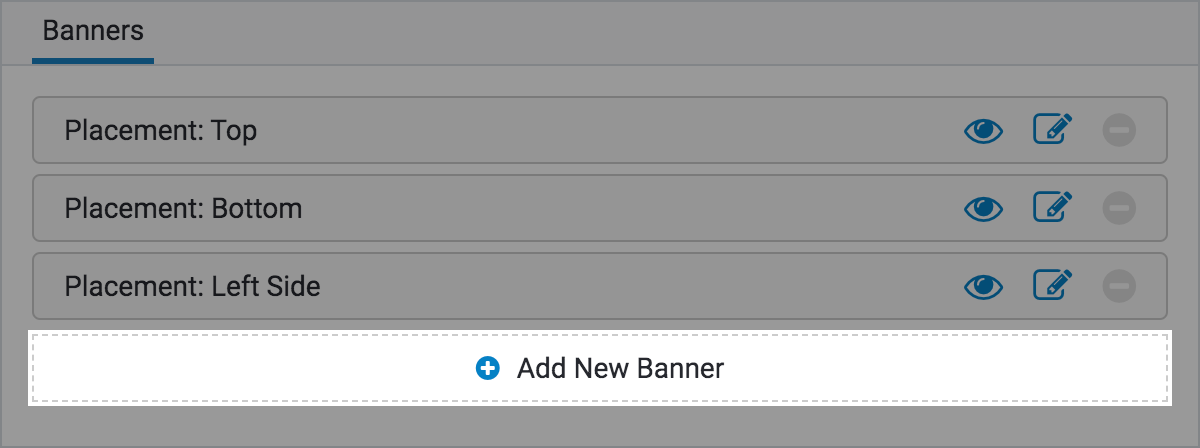 Banners Searchspring Help Desk